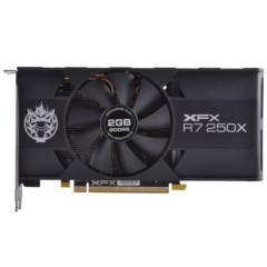 XFX讯景R7 250X 2G 黑狼 六屏版 950/5000MHz 128bit DDR5 显卡