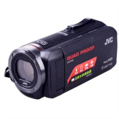 JVC GZ-R320BAC 高清闪存摄像机(家用DV,HD高清,全新四防,5小时续航,R10升级版)