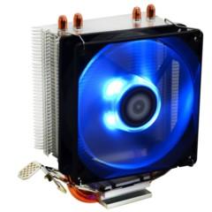 SE-902X 多平台塔式侧吹CPU散热器 双热管9cm蓝色LED灯温控风扇