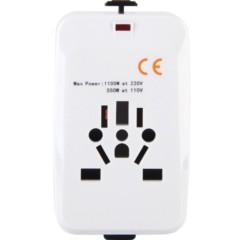 英特曼ACAC18 转换插头插座转换器无USB韩国美国英标德标欧标