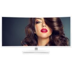 AOC C3583FQ/WS 35英寸VA屏广视角 21:9宽屏 100%sRGB色域 144Hz刷新率 电竞曲面显示器