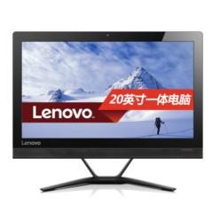 联想AIO 300 20英寸一体机电脑( I3-6100T 4G 500G 集显 摄像头 Win10)黑色
