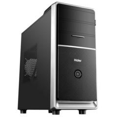 海尔天越Y3 台式主机(Intel四核J3160 4G 500G 键鼠 WIFI Win10 )办公电脑