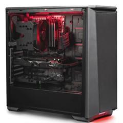 追风者PK(H)416P 黑色ATX水冷静音机箱 (全金属/RGB饰灯控\支持360水冷\模组硬盘\标配2风扇)
