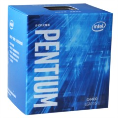 Intel奔腾G4400 Skylake架构盒装CPU处理器(LGA1151/3.3GHz/3MB缓存/51W)