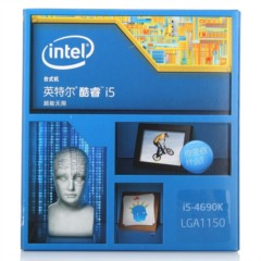 Intel酷睿i5-4690k 22纳米 Haswell全新架构盒装CPU处理器(LGA1150/3.5GHz/6M三级缓存)