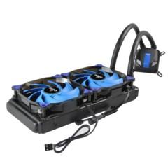 爱国者冰塔T240水冷散热器(CPU散热器/长寿命陶瓷轴承/蓝光LED风扇/全平台支持/硅脂)