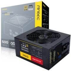 安钛克额定500W EAG500 PRO 电源(80PLUS金牌/半模组/支持背线/主动式PFC/台式机电源/电脑电源)