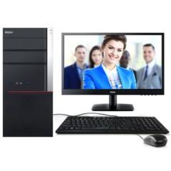 海尔商嘉X-A0008 台式电脑(i5-6400 8G 1TB+128G SSD GT720 2G独显 PCI COM口 键鼠 Win7)商用电脑