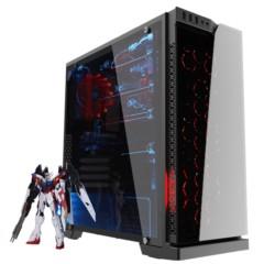 爱国者炫影 黑色 分体式机箱(支持ATX主板/钢化玻璃面板/USB3.0/HD音频/大侧透/支持背线)