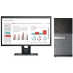 戴尔OptiPlex3020MT商用台式电脑(i5-4590/4G/500G/1G独显/DVDRW/Win10)23英寸