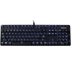 飞利浦SPK8401B 机械键盘 单色白光透明青轴