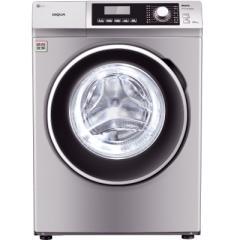 三洋WF810320BS0S 8公斤变频滚筒洗衣机 57°斜面板 中途添衣 桶自洁(浅咖亚银)