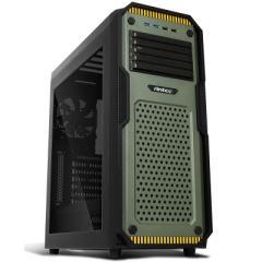 安钛克GX909 军绿色 中塔机箱(支持ATX主板/支持超长显卡/顶部开关鳍片/6个风扇位/电脑机箱)