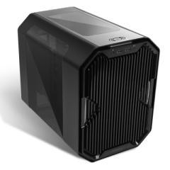 安钛克CUBE 黑色 ITX水冷机箱 (EK定制/3mm铝材/支持240水冷/RGB变换/支持长显卡)