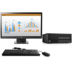 惠普280 Pro G2 SFF小型商用台式电脑(i3-6100 4G 500G DVDRW Win10 )23英寸显示器