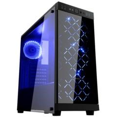 先马时光豪华版 分体式水冷机箱 (双面钢化玻璃/配3把蓝光风扇/支持ATX主板、长显卡、电源下置)