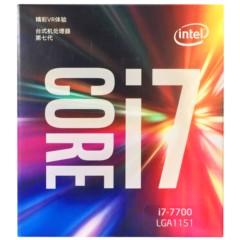 Intel酷睿四核I7-7700 盒装CPU处理器