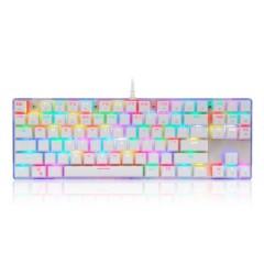 摩豹K87S  RGB  青轴机械键盘  白色