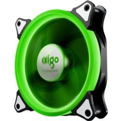 爱国者极光 12CM绿光 电脑机箱风扇(小3P+大4P双接口/水冷排散热/减震脚垫/赠4螺丝)
