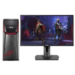 华硕G11飞行堡垒台式游戏电脑整机 (I7-7700 8GB 128GSSD+1TB GTX1060 3G独显 MG248Q电竞显示器)