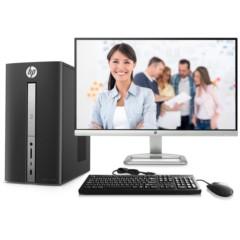 惠普Pavilion畅游人570-p032cn台式电脑套机(i3-7100 4G 1T 2G独显 Win10)23英寸
