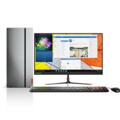 联想天逸510 Pro商用台式电脑23英寸(i5-7400 8G 128G SSD+1T GT730 2G独显)