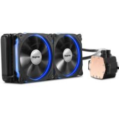 鑫谷冰凌霜240一体式水冷CPU散热器(12CM发光风扇/LED炫光冷头/多平台AM4通用/冷排机箱专用)
