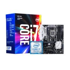 Intel酷睿四核I7-7700k CPU 华硕Z270-A套装