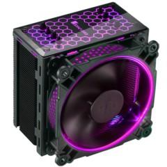 乔思伯CR-201 RGB版本 RGB CPU散热器 (黑色/多平台/4热管/温控/12CM风扇/支持AURA RGB/附硅脂)