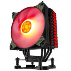 爱国者冰魄K4冰光版 红光 CPU散热器(多平台/支持AMD4/智能温控/单色呼吸灯闪烁/12CM风扇/附硅脂)