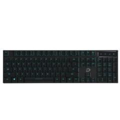 达尔优EK820 超薄104键游戏背光办公机械键盘 巧克力红轴