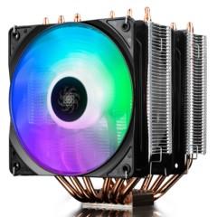 九州风神大霜塔RGB CPU散热器 (17种RGB灯效/6热管/双RGB风扇/附带硅脂/线控)