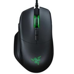 雷蛇Basilisk巴塞利斯蛇 RGB幻彩 有线游戏鼠标 5G电竞鼠标 黑色