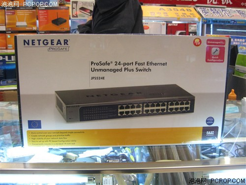 设置简单功能强 网件24口百兆交换机