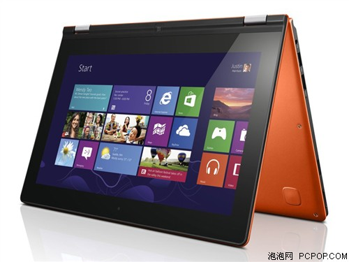 联想Yoga11S 11.6英寸笔记本电脑(i5-3339Y/2G/128G固态硬盘/Intel HD4000核显/Win8/日光橙)笔记本