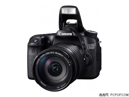 佳能EOS 70D 单反机身(中高级单反 2020万像素 3英寸翻转触摸屏 连拍7张/秒)数码相机
