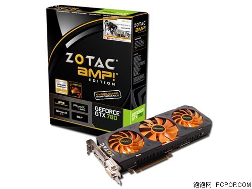 索泰GTX780-3GD5 AMP 1006-1059MHz/6208MHz 3GB/384bit GDDR5显卡