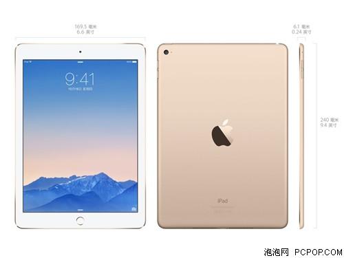 苹果iPad Air2 MH0W2ZP/A 9.7英寸平板电脑(A8X处理器/1G/16G/Wifi版/金色)港版平板电脑