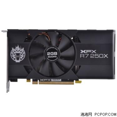 XFX讯景R7 250X 2G 黑狼 六屏版 950/5000MHz 128bit DDR5 显卡显卡