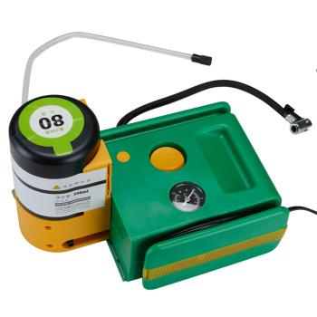 龙蟠充气泵 汽车用品 充气补胎一体机轮胎伴侣 电动充气泵补胎液测压
