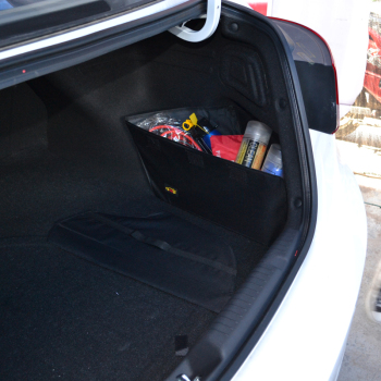 车翼现代朗动改装专用后备箱储物箱整理箱收纳置物袋后备箱垫绣花