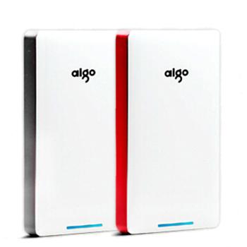 aigo爱国者电子科技公司出品D100 10000毫安 安全聚合物 移动电源/充电宝 红白色 官方标配+A6+1拖3线图片3