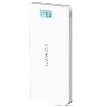 罗马仕sense6LCD显示屏版 20000毫安白色手机\平板智能移动电源充电宝图片3