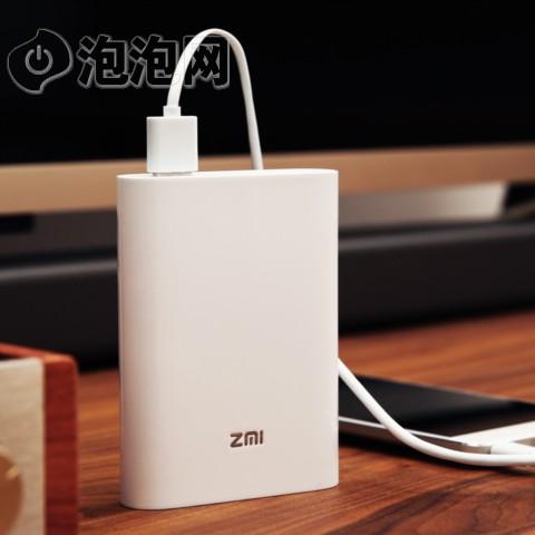 ZMI7800毫安 全网通/移动电源/充电宝 紫米 MF855 mifi 白色 4G 三网通   无线 随身路由图片5
