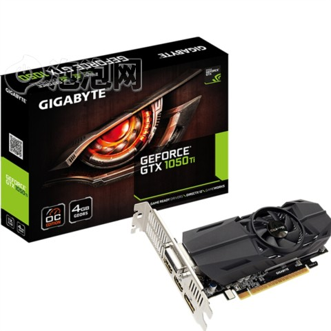 技嘉GTX 1050Ti OC Low Profile 4G 1303-1442MHz/7008MHz 4G/128bit GDDR5显卡图片1