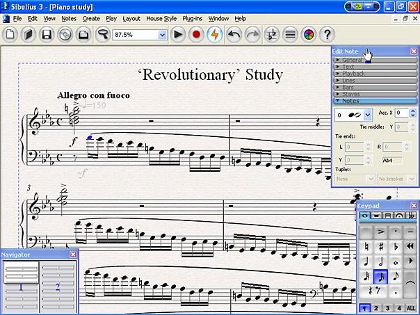 Sibelius 3.0 最好的写乐谱软件之一 汉化版本