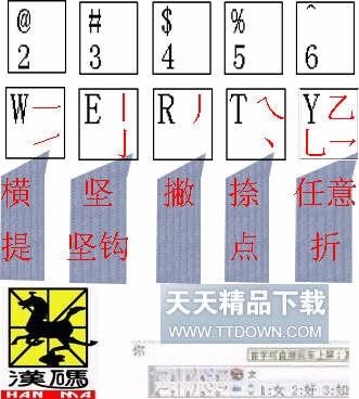 五笔画输入法 1.0 横竖撇捺折5笔画
