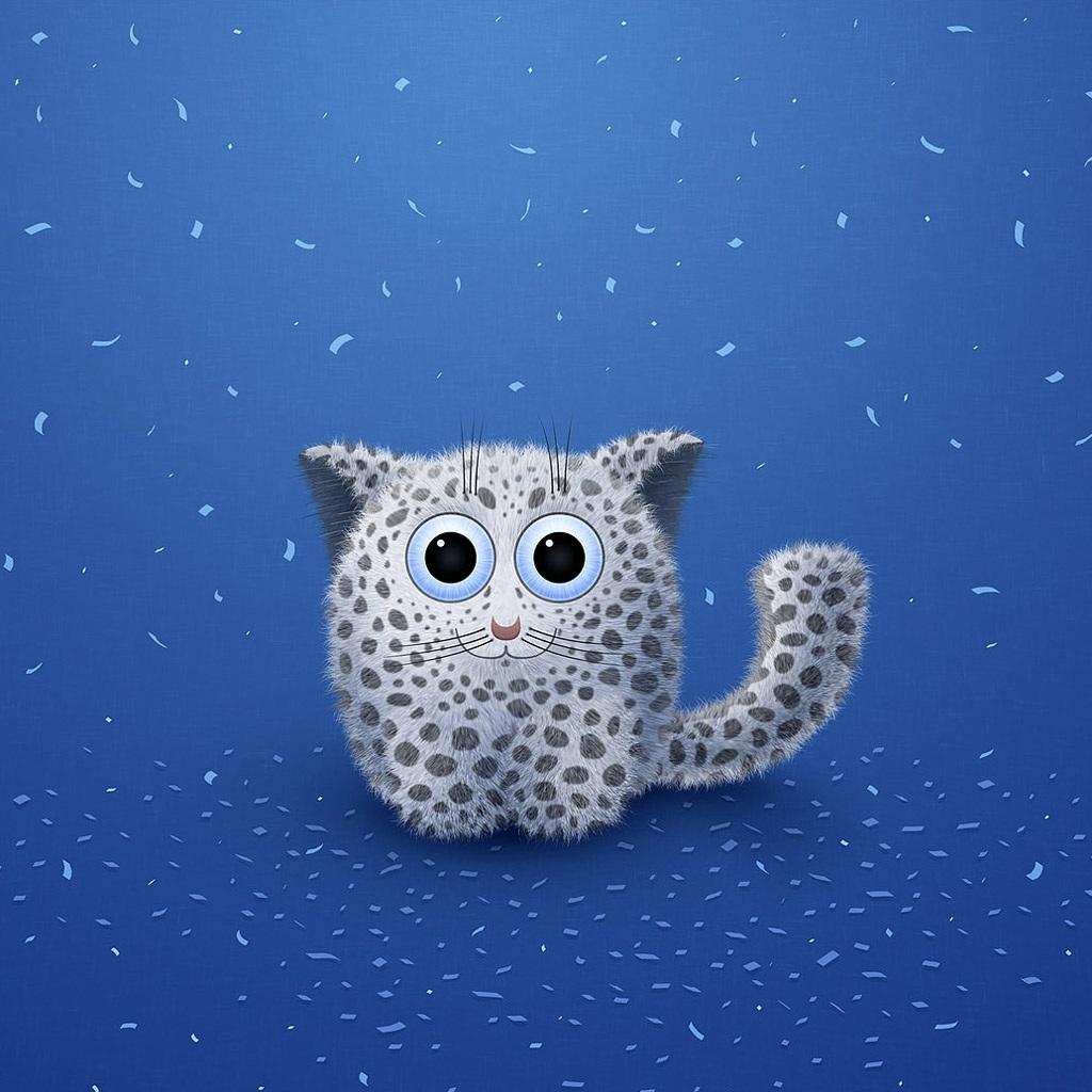 ipad可爱猫咪_iphone4手机壁纸