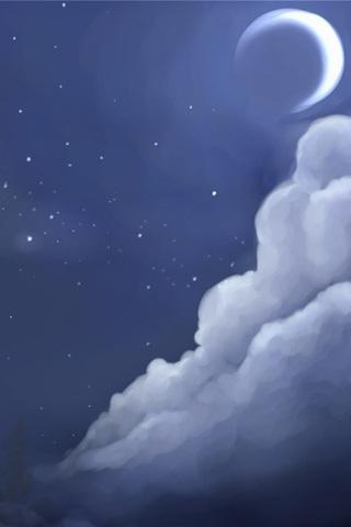 月亮_iphone4手机壁纸_ipad壁